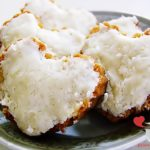 Ciasteczka kokosowe w kształcie serc na walentynki